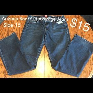 Arizona Boot Cut Average Jeans - Size 15